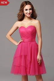 bridesmaid Fuschia dresses - JW2674