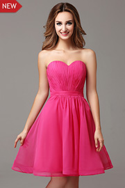 bridesmaid Fuschia dresses - JW2682