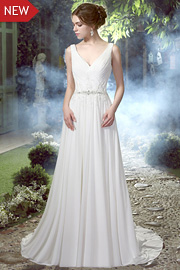 white bridal dresses - JW2588