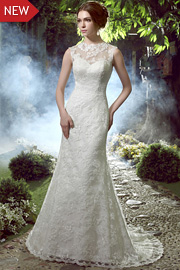 white lace wedding gowns - JW2597