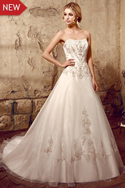 dropped waist bridal gowns - JW2614
