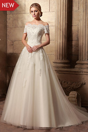 dropped waist bridal gowns - JW2629