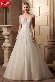 dropped waist bridal gowns - JW2631