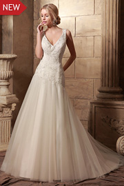 dropped waist bridal gowns - JW2632