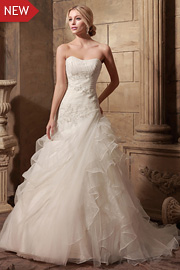 dropped waist bridal gowns - JW2635